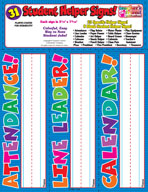 Student Signs and Passes: Student Helper Signs
