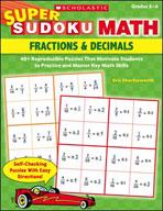 Super Sudoku Math: Fractions & Decimals
