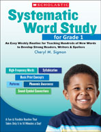Systematic Word Study for Grade 1