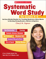 Systematic Word Study for Grades 4-6