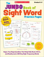 The Jumbo Book of Sight Word Practice Pages (Enhanced eBook)