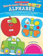 Turn-to-Learn Wheels in Color: Alphabet (Enhanced eBook)