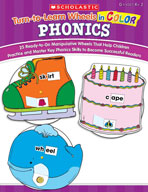 Turn-to-Learn Wheels in Color: Phonics (Enhanced eBook)