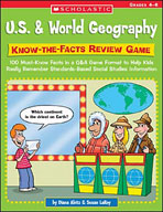 U.S. and World Geography: Know-the-Facts Review Game (Enhanced eBook)