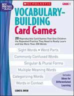 Vocabulary-Building Card Games: Grade 1 (Enhanced eBook)