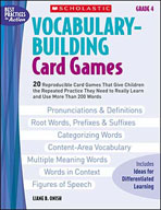 Vocabulary-Building Card Games: Grade 4 (Enhanced eBook)