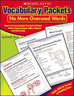 Vocabulary Packets: No More Overused Words