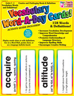 Vocabulary Word-A-Day Cards: Grades 3-4