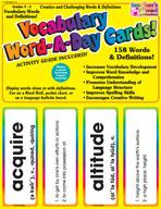 Vocabulary Word-A-Day Cards: Grades 3-4 (Enhanced eBook)