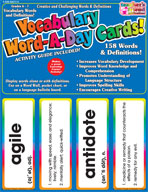 Vocabulary Word-A-Day Cards: Grades 6-7