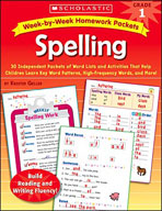 Week-by-Week Homework Packets: Spelling (Grade 1) (Enhanced eBook)