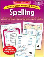 Week-by-Week Homework Packets: Spelling (Grade 2) (Enhanced eBook)