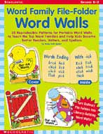 Word Family File-folder Word Walls (Enhanced eBook)