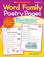 Word Family Poetry Pages (Enhanced eBook)