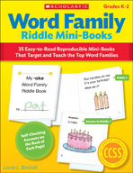 Word Family Riddle Mini-Books