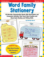 Word Family Stationery (Enhanced eBook)