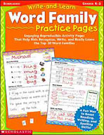 Write-and-Learn Word Family Practice Pages