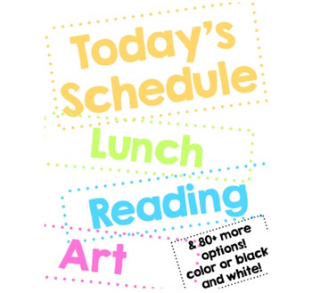 SCHEDULE CARDS! 80+ OPTIONS! IN COLOR OR BLACK & WHITE!