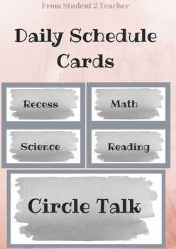 SCHEDULE CARDS - All Subjects & Extra Events