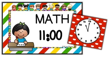 Kids Editable Schedule Cards