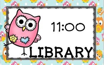 Editable Owl Schedule Cards