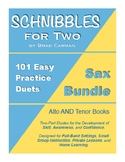 SCHNIBBLES for Two; Saxophone BUNDLE (Alto & Tenor)