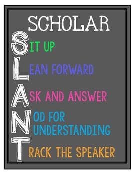 SCHOLAR SLANT Poster