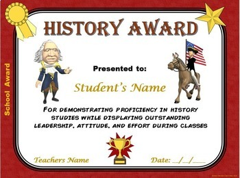 SCHOOL AWARDS- 24  Multi-Subject Certificates