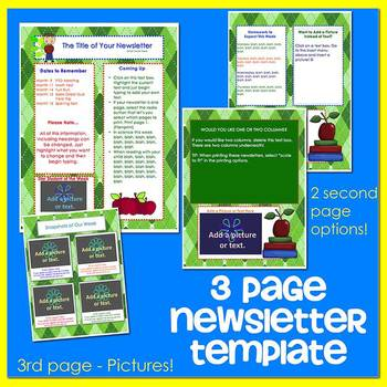 SCHOOL KIDS GREEN ARGYLE - Newsletter Template WORD
