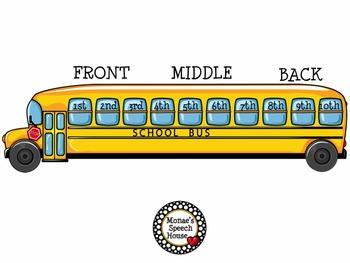 SCHOOL BUS POSTER & LANGUAGE PACKET