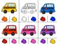 SCHOOL BUSES Color Match Clip It {A Beginning Work Task)