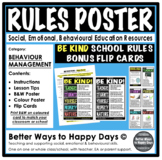 RULES POSTER - BE KIND - Behaviour Management
