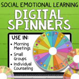 Social Emotional Learning Digital Spinners   Individual & Small Group Counseling
