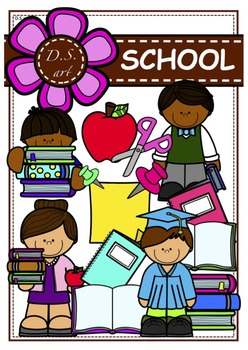 SCHOOL Clipart (color and black&white)