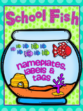 SCHOOL FISH {editable} nameplates, locker tags and labels