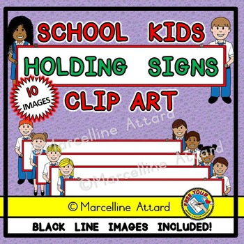 BACK TO SCHOOL KIDS CLIPART: STUDENTS CLIPART: KIDS HOLDIN