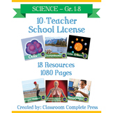 SCHOOL LICENSE – 10 TEACHERS – Year Long Program – SCIENCE – Grades PK-8