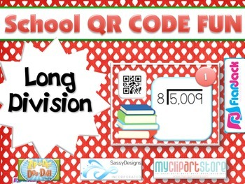 SCHOOL LONG DIVISION QR Code Fun