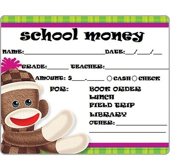 SCHOOL MONEY TAGS
