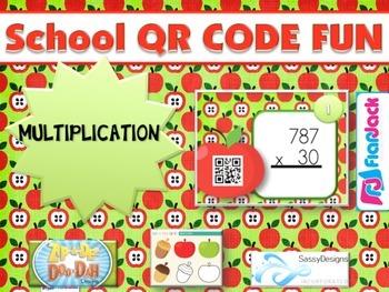 SCHOOL MULTIPLICATION QR Code Fun