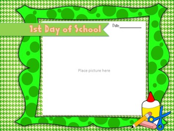 End of the year SCHOOL Memory photo album {EDITABLE TEMPLATE}