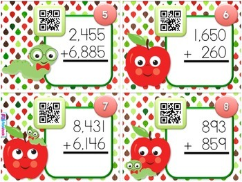 SCHOOL Multi-Digit ADDITION QR Code Fun