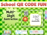 SCHOOL Multi-Digit SUBTRACTION QR Code Fun