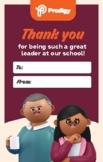 SCHOOL PRINCIPALS' DAY Principal thank you card version 1