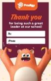SCHOOL PRINCIPALS' DAY Principal thank you card version 2