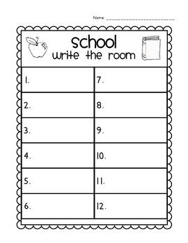 *SCHOOL* Read/Write Around the Room (Sight Words)