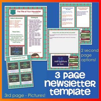 SCHOOL Reading Books - Newsletter Template WORD