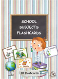 SCHOOL SUBJECTS PRITABLE FLASHCARDS