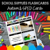 School Supplies Flashcards for Autism, Speech Therapy, Vocabulary Activity