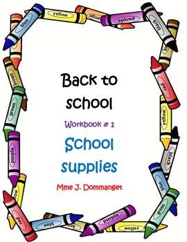 SCHOOL SUPPLIES-GETTING BACK TO SCHOOL.